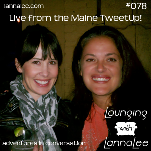 Chrystie and Kristi at the Maine Tweetup!