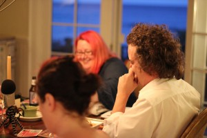 Rachel, Lanna and Greg at the live LLLSalon Night